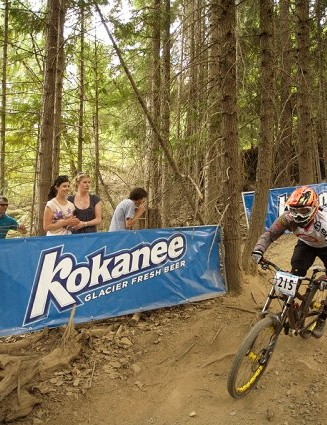 Anne-Caro Chausson takes on the Monster Energy Garbanzo DH