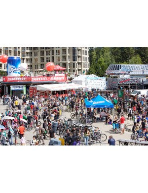 Thousands of people flock to Whistler Bike Park in British Columbia every year for the event