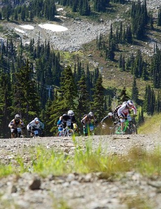 While the enduro course dropped 3,800ft, there were still plenty of lung-burning climbs to deal with