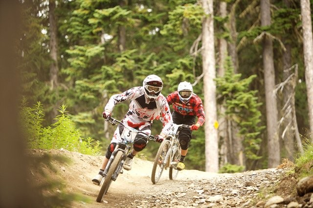 Trek World Racing's Justin Leov went on to finish eighth in the Canadian Open Enduro