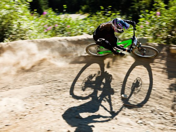 Brian Lopes soared over the 50 jumps on the A-Line descent to win the Air DH for the fifth consecutive year