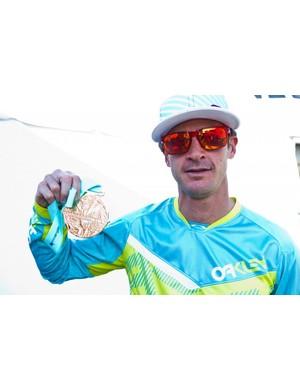 Brian Lopes displays his sixth Air DH gold medal