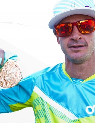 Brian Lopes displays his sixth Air DH gold medal