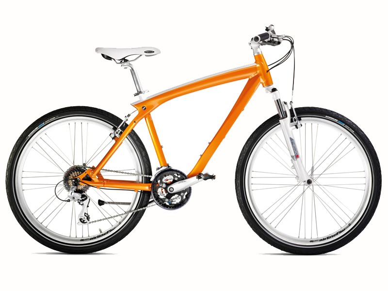BMW's new Cruise Bike comes in a vivid orange colour inspired by the 1970s BMW 1802
