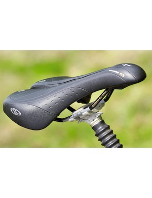 A well contoured saddle can be a real boost to comfort and control