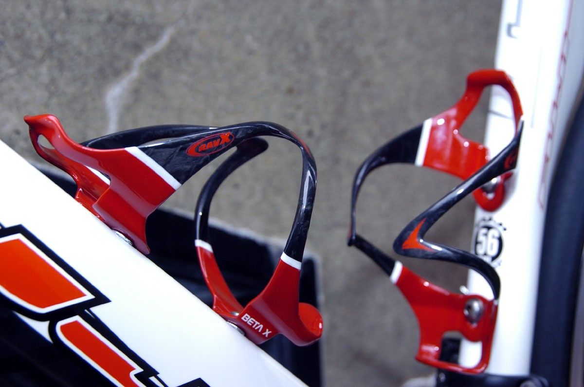 Ravx's Beta X bottle cages tip the scales at just 26 grams without bolts