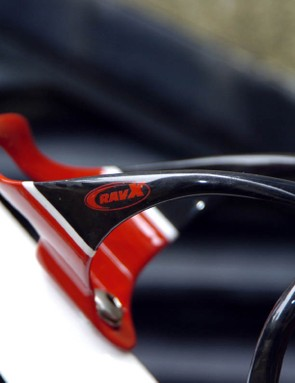 The Beta X comes in three of these solid colour on carbon looks - with blue and white also available