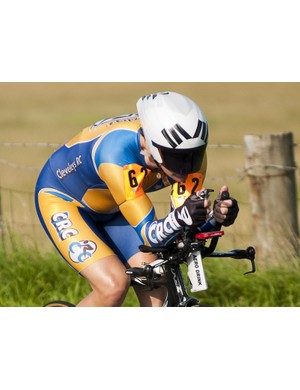 Derek Parkinson used his local knowledge to take third