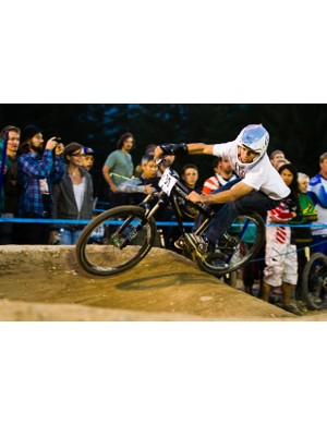 Mitch Ropelato rode to first place in the Ultimate Pump Track Challenge