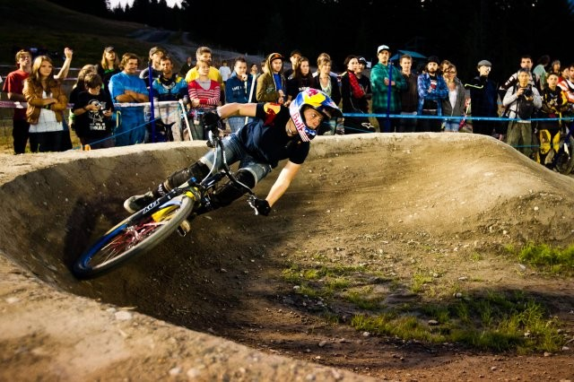 Jill Kintner took top spot in the women's Ultimate Pump Track Challenge