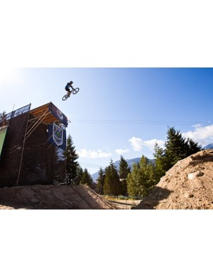 Riders took on the huge Kokanee Booter step-down in the VW Trick Showdown