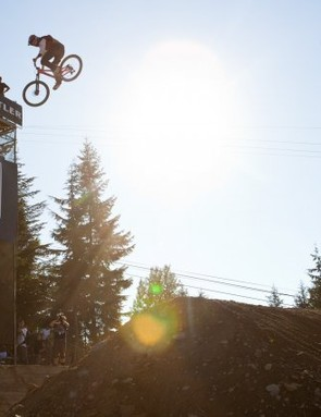 Cam Zink walked away with the win after a final run that included a huge frontflip, floaty 360s and a big backflip