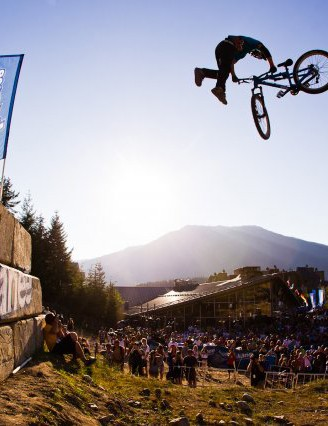 Riders had to combine big tricks and tech moves to win over the Crankworx judges