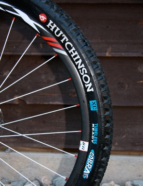 Bontrager XXX Carbon wheels with DT Swiss spokes