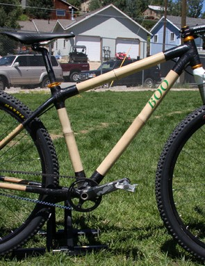 Boo's bamboo and carbon hardtail 29er