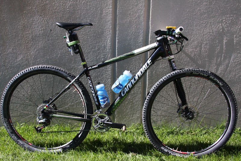Jeremiah Bishop's Cannondale Flash Carbon 29er weighs in at 19.4 pounds