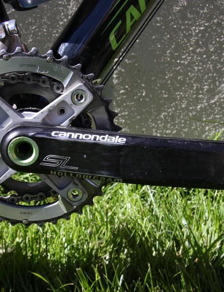 Cannondale Hallowgram BB30 cranks (39x26)turn a SRAM XX groupset