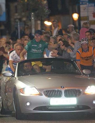 Sean Kelly in the pre-race parade