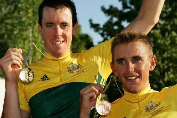 Matt Hayman and Allan Davis were first and third in the men's road race at the 2006 Commonwealth Games