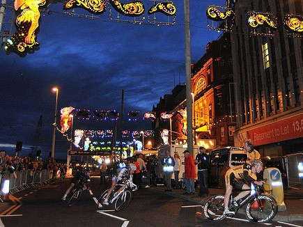Racing under the lights in Blackpool