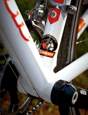 The well-built frame was the only one on test that had perfect alignment of head tube, rear triangle and fork