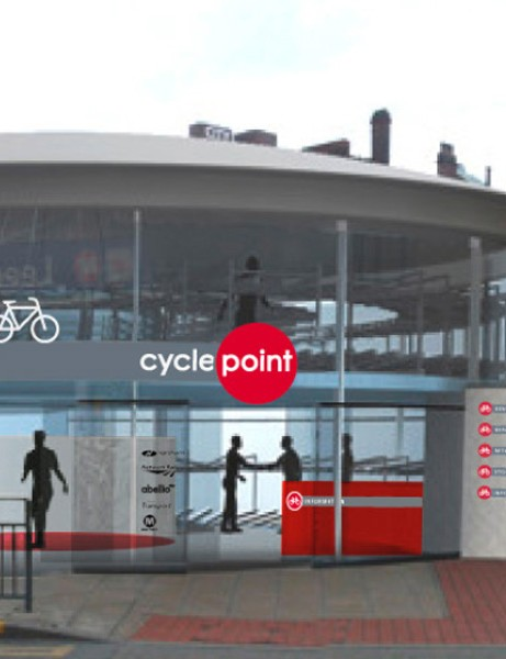 Photo montage of the new Leeds CyclePoint