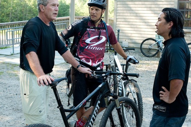 Former president Bush with Domahidy and Sugai