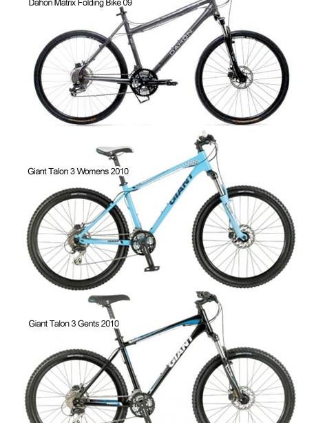 The bikes that were stolen