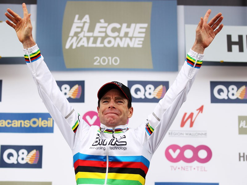 Cadel Evans will lead the Australian squad at the world championships this year