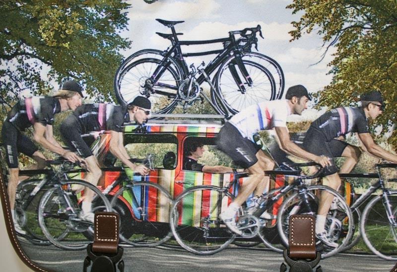 Striped Mini with Rapha Condor Cycle team