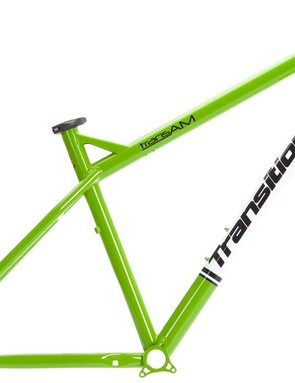 Transition TransAm hardtail frame in green