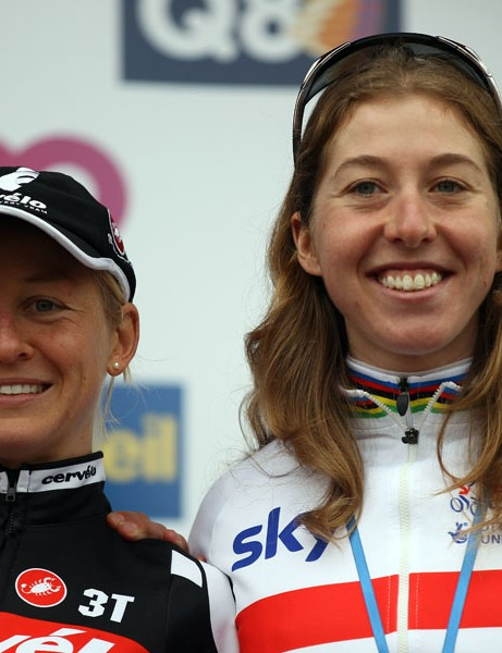 Emma Pooley and Nicole Cooke, key members of the British women's team