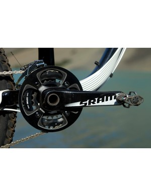 A SRAM 24-36 crankset is part of the drivetrain, rather than the more standard 26-39