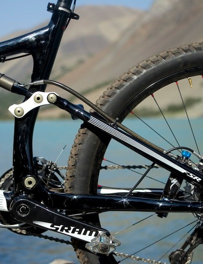 The back half of the Specialized Safire is also M5 alloy