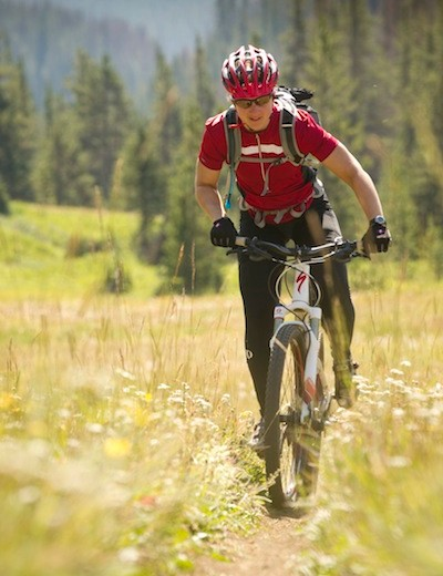 Mountain Bike Editor Sue George rides the Specialized Era over Lorna Pass