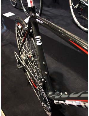 Seat tubes on the Izalco Team and Pro frames are dramatically asymmetrical.