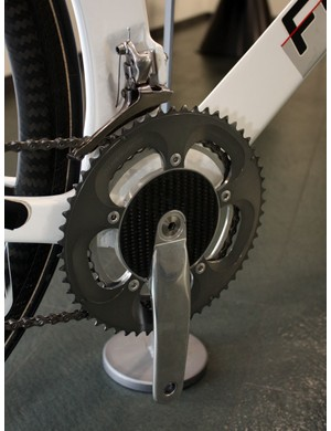 The extra-narrow bottom bracket also requires a special crank to go with it.