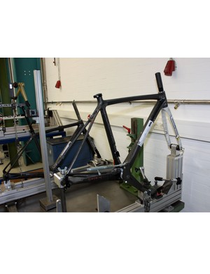 Included in Focus's test facilities are various jigs for measuring frame stiffness.