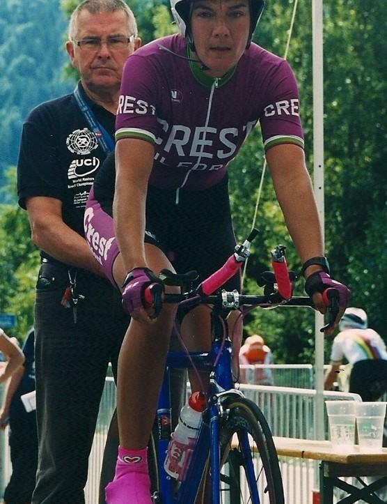 Sue Fenwick before the start