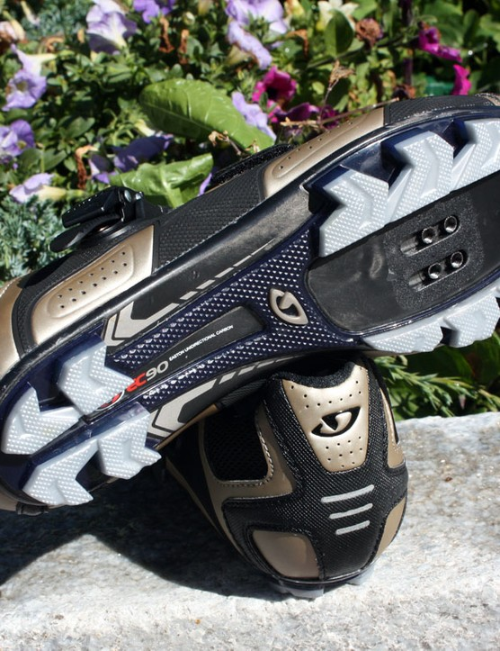 The Code's Easton EC90 carbon outsole is slightly detuned relative to the road version for slightly easier walking