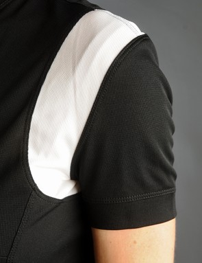 The sleeves in particular lay nicely against the arms, with a ribbed band rather than elastic