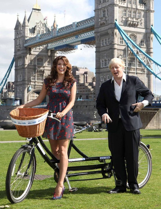 Mayor of London Boris Johnson and actress/model Kelly Brook