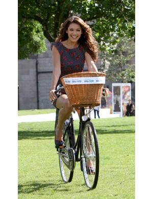 Kelly Brook will take part in this Sunday's Sky Ride in London