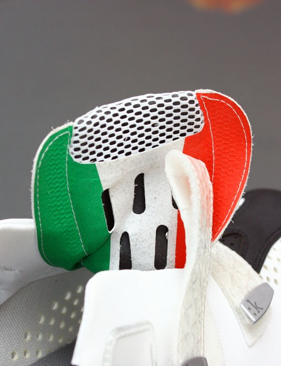 Fizik are proud of the shoes' Italian heritage but want to be a little subtle about it, too