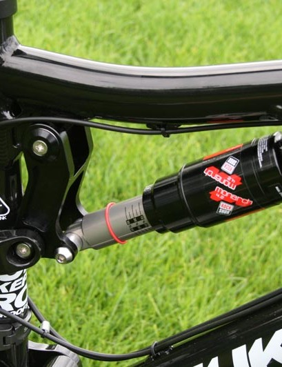 Custom tuned RockShox Monarch 4.2 rear shock
