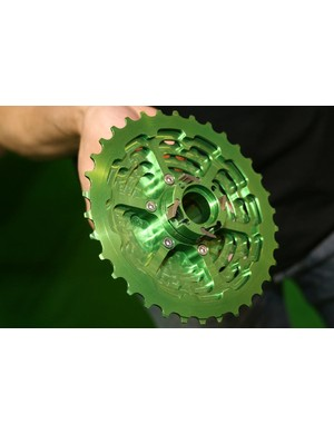 Hope's cassette features an integrated freehub body