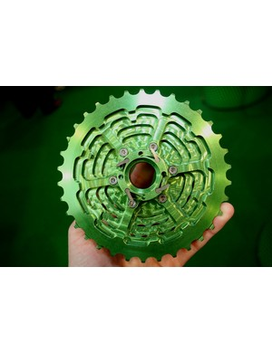 The green is machined from one block...
