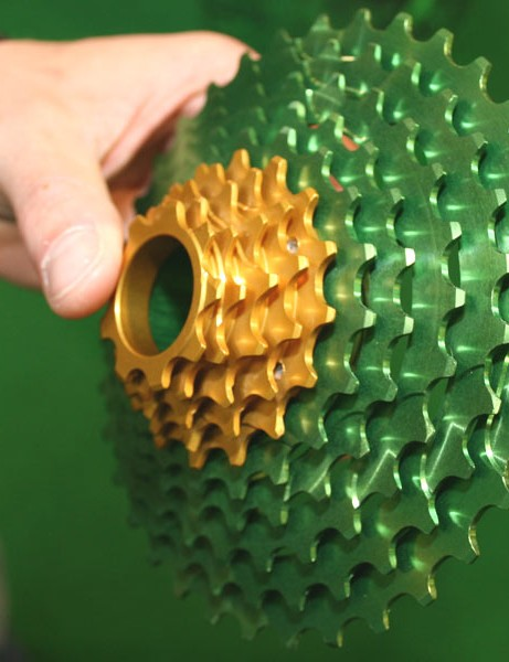... and the gold is machined from another