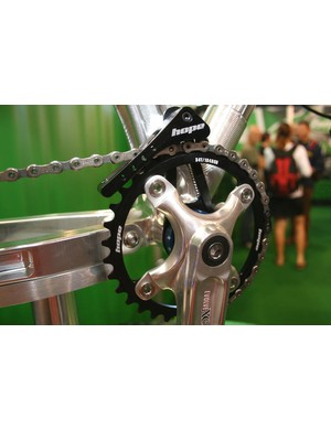 Hope's new chainguide and chainring