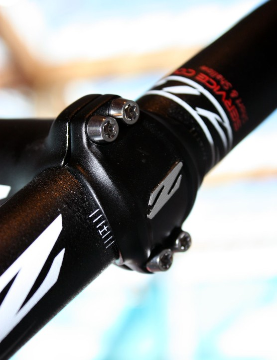 Both Zipp Service Course stems use Torx-head bolts for a more secure tool purchase – stainless steel on the standard version and titanium on the SL